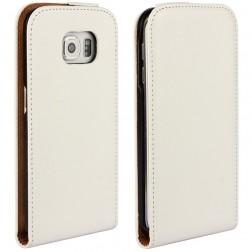 Klasisks atvēramais maciņš - balts (Galaxy S6 Edge)