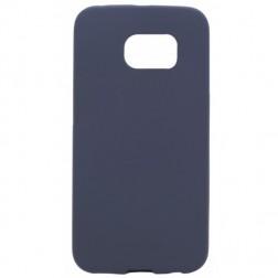 Planākais TPU apvalks - tumši zils (Galaxy S6 Edge)