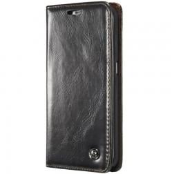 """""""CaseMe"""" solīds atvēramais ādas maciņš - melns (Galaxy S6 Edge+)"""