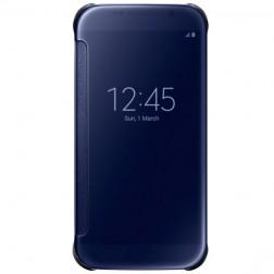 """Samsung"" Clear View Cover atvērams maciņš - zils (Galaxy S6)"