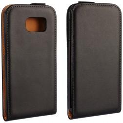 Klasisks atvēramais maciņš - melns (Galaxy S6)