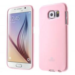 """Mercury"" apvalks - gaiši rozs (Galaxy S6)"
