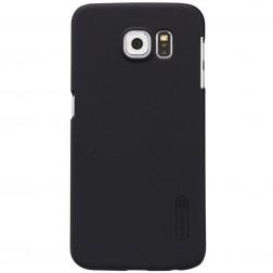 """Nillkin"" Frosted Shield apvalks - melns + ekrāna aizsargplēve (Galaxy S6)"
