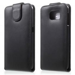 Vertikāli atvēramais maciņš - melns (Galaxy S6)