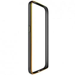 Rāmis (bamperis) - melns (Galaxy S6)