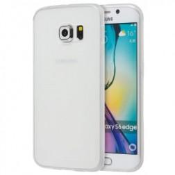 Cieta silikona (TPU) matēts apvalks - balts (Galaxy S6)