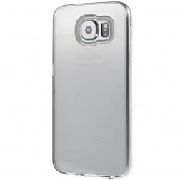 Cieta silikona (TPU) apvalks - dzidrs, pelēks (Galaxy S6)
