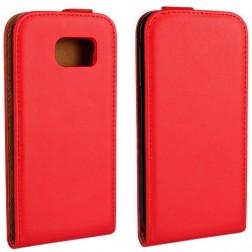 Klasisks atvēramais maciņš - sarkans (Galaxy S6)