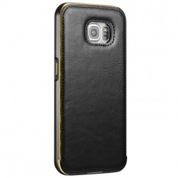 """Luxury"" rāmis (bamperis) / apvalks - melns (Galaxy S6)"