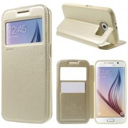 """""""Roar"""" Noble atvēramais futrālis - zelta (Galaxy S6)"""