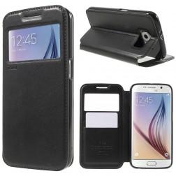 """""""Roar"""" Noble atvēramais futrālis - melns (Galaxy S6)"""
