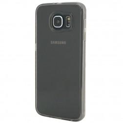 Plastmasas apvalks ar sānu apmale - dzidrs / pelēks (Galaxy S6)
