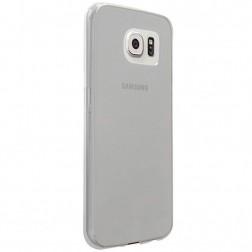 Planākais TPU apvalks - dzidrs, pelēks (Galaxy S6)