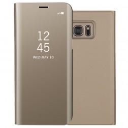 Plastmasas atvērams maciņš - zelta (Galaxy S7)