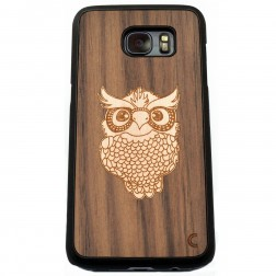 """Crafted Cover"" dabīga koka apvalks - Pūce (Galaxy S7)"