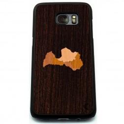 """""""Crafted Cover"""" dabīga koka apvalks - Latvija (Galaxy S7)"""