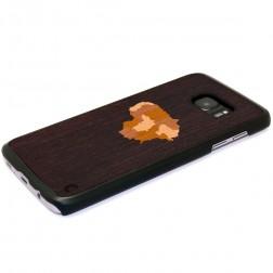 """Crafted Cover"" dabīga koka apvalks - Lietuva (Galaxy S7)"