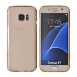 Pilnīgi aizsedzams TPU apvalks - gaiši brūns (Galaxy S7)