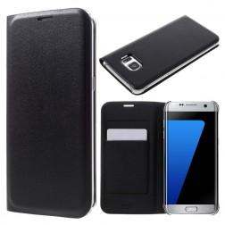 """""""Smart Wallet"""" atvēramais ādas maciņš - melns (Galaxy S7 Edge)"""