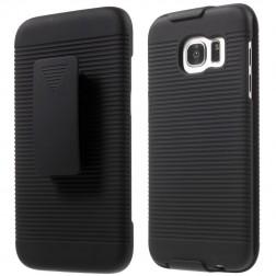 Plastmasas apvalks pie siksna - melns (Galaxy S7 Edge)