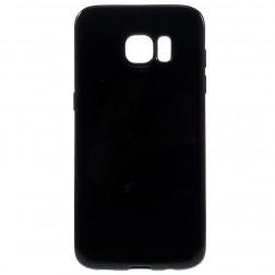 Cieta silikona (TPU) apvalks - melns (Galaxy S7 edge)