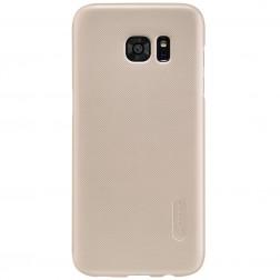 """""""Nillkin"""" Frosted Shield apvalks - zelta + ekrāna aizsargplēve (Galaxy S7 Edge)"""