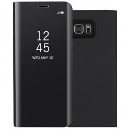 Plastmasas atvērams maciņš - melns (Galaxy S7 Edge)