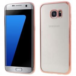 Cieta silikona (TPU) dzidrs apvalks - rozs (Galaxy S7 edge)