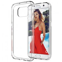 Cieta silikona (TPU) apvalks - dzidrs (Galaxy S7 edge)