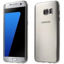 Planākais TPU apvalks - dzidrs, pelēks (Galaxy S7 Edge)