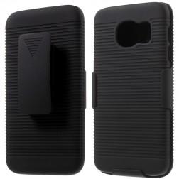 Plastmasas apvalks pie siksna - melns (Galaxy S7)