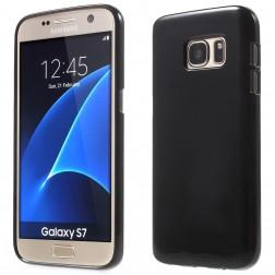 Cieta silikona (TPU) apvalks - melns (Galaxy S7)