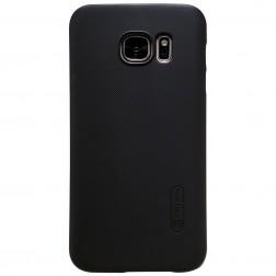 """Nillkin"" Frosted Shield apvalks - melns (Galaxy S7)"
