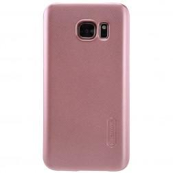 """Nillkin"" Frosted Shield apvalks - rozs + ekrāna aizsargplēve (Galaxy S7)"