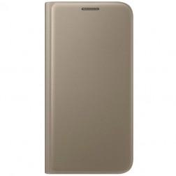 """""""Samsung"""" Flip Wallet Cover atvērams maciņš - zelta (Galaxy S7)"""