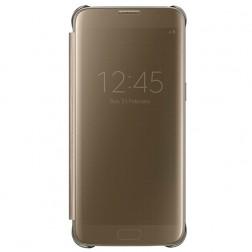 """Samsung"" Clear View Cover atvērams maciņš - zelta (Galaxy S7)"