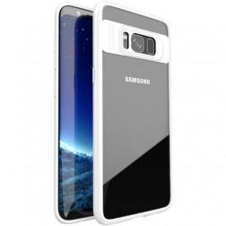 """""""IPAKY"""" Frame apvalks - dzidrs apmales baltā krāsā (Galaxy S8)"""