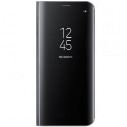 """Samsung"" Clear View Standing Cover atvērams maciņš - melns (Galaxy S8)"
