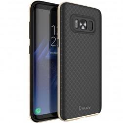 """""""IPAKY"""" cieta silikona (TPU) apvalks - melns / zelta (Galaxy S8)"""