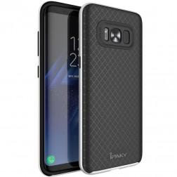"""IPAKY"" cieta silikona (TPU) apvalks - melns / peleks (Galaxy S8)"
