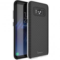 """IPAKY"" cieta silikona (TPU) apvalks - melns / sudrabs (Galaxy S8)"