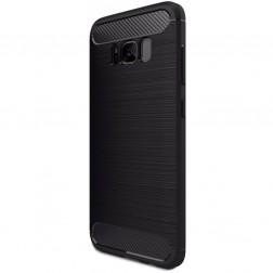 """Carbon"" cieta silikona (TPU) apvalks - melns (Galaxy S8)"