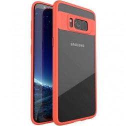 """""""IPAKY"""" Frame apvalks - dzidrs apmales sarkanā krāsā (Galaxy S8)"""