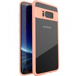 """IPAKY"" Frame apvalks - dzidrs apmales rozā krāsā (Galaxy S8)"