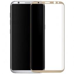 """""""Calans"""" Tempered Glass pilnīgi aizsedzams ekrāna aizsargstikls 0.2 mm - zelta (Galaxy S8+)"""