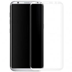 """""""Calans"""" Tempered Glass pilnīgi aizsedzams ekrāna aizsargstikls 0.2 mm - balts (Galaxy S8+)"""