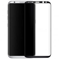 """""""Calans"""" Tempered Glass pilnīgi aizsedzams ekrāna aizsargstikls 0.2 mm - melns (Galaxy S8+)"""