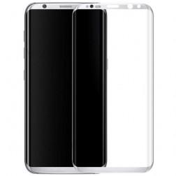"""""""Calans"""" Tempered Glass pilnīgi aizsedzams ekrāna aizsargstikls 0.2 mm - sudrabs (Galaxy S8+)"""