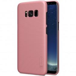 """Nillkin"" Frosted Shield apvalks - rozs + ekrāna aizsargplēve (Galaxy S8+)"