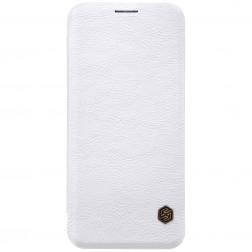 """Nillkin"" Qin atvēramais maciņš - balts (Galaxy S8)"
